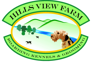 Hills View Farm and Kennels Logo Ten Mile Tennessee TN dog boarding kennels grooming